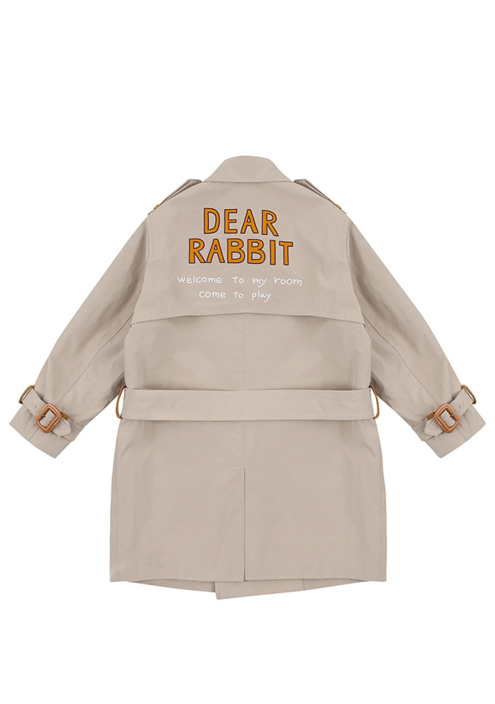 Dear Rabbit Trench Coat_Kids
