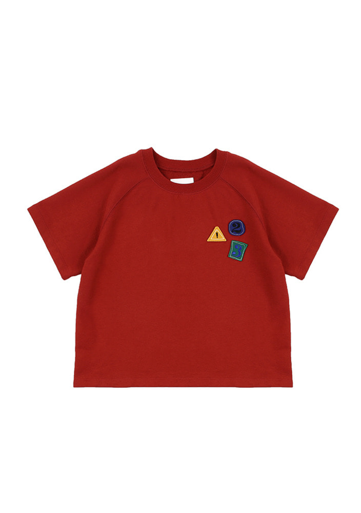 123 T-Shirt_Red_Baby