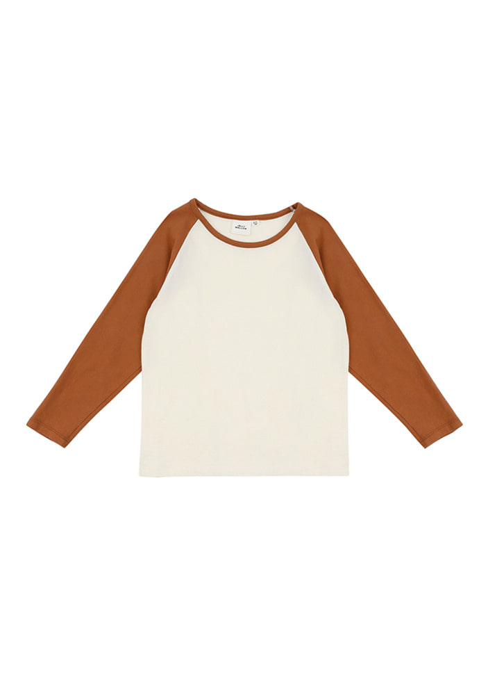 Raglan T Shirts_Brown_Kids