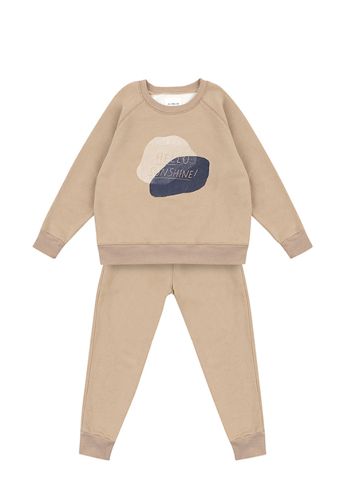 Sunshine Sweat Set_Kids_Beige