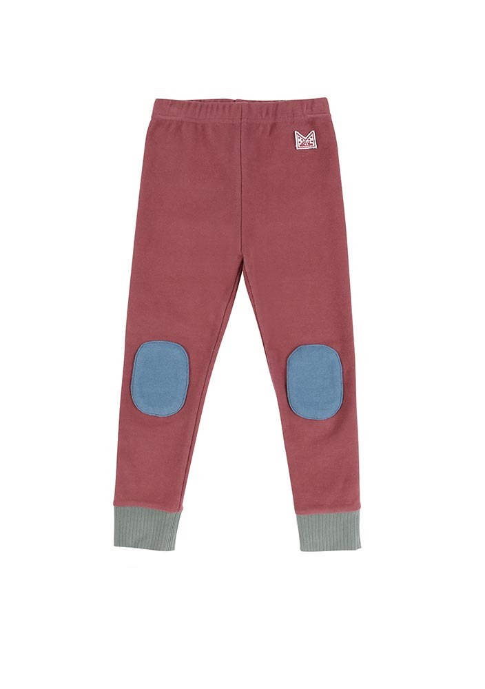 Patch Leggings_Burgundy_Kids