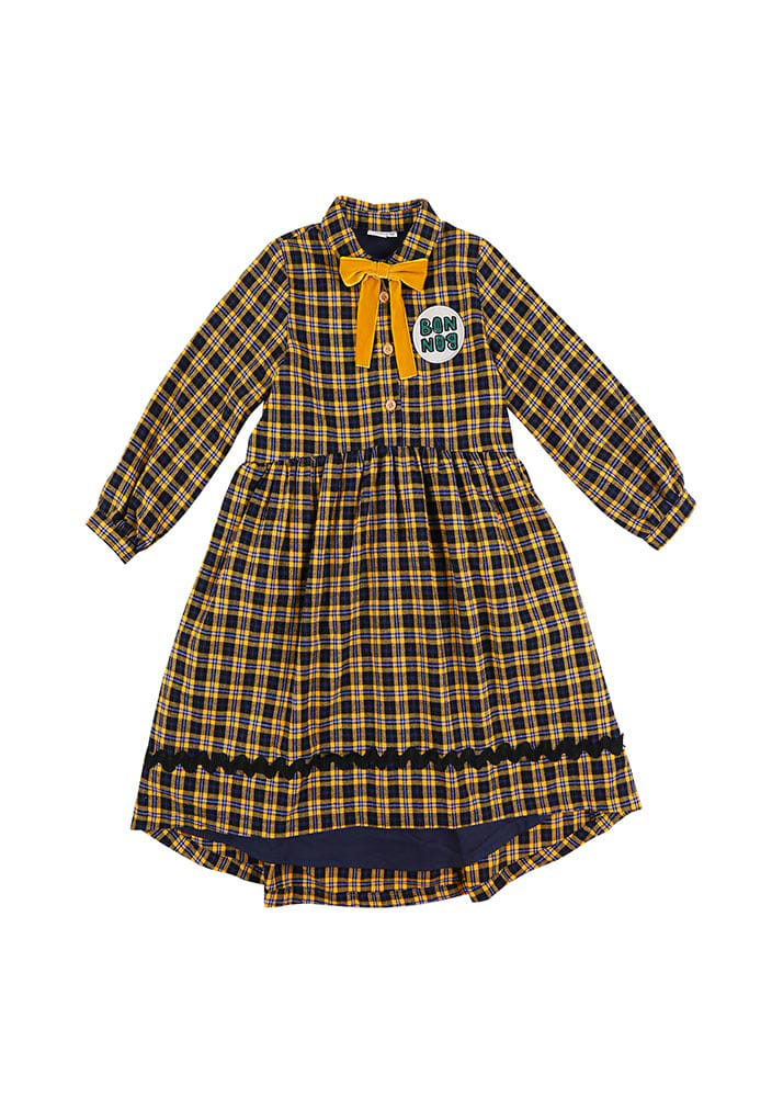 Check BONBON Dress_Baby_Yellow_#2