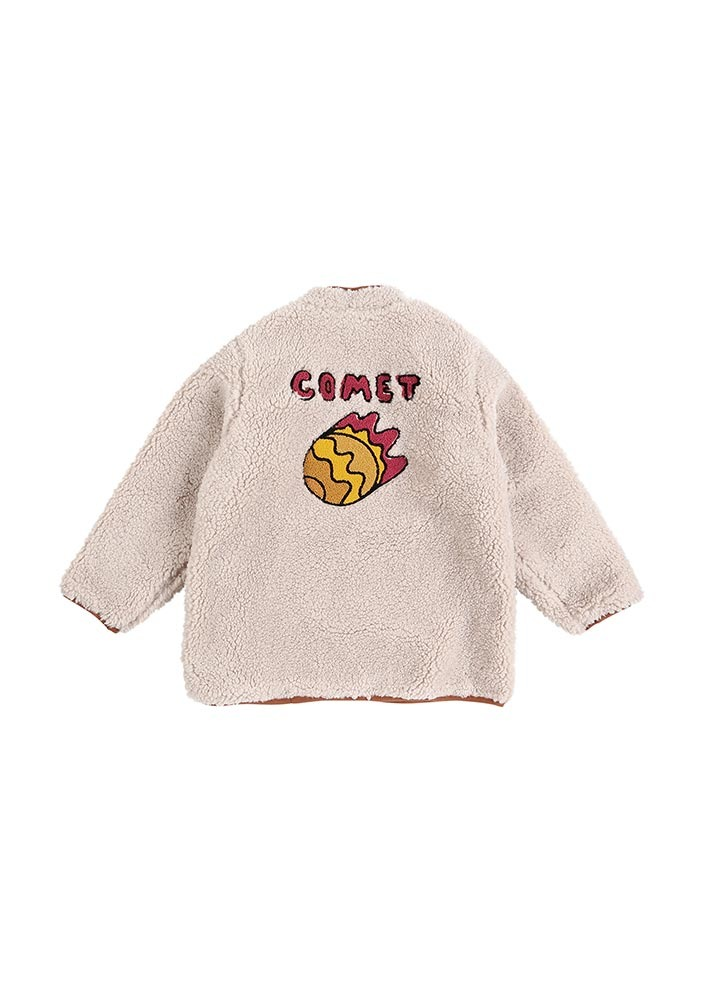 Shearling Jacket_Kids_Beige_#3
