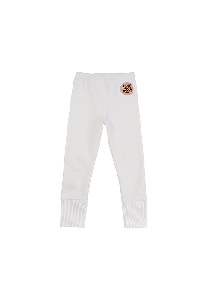 Basic Rib Leggings_White_Kids_#3