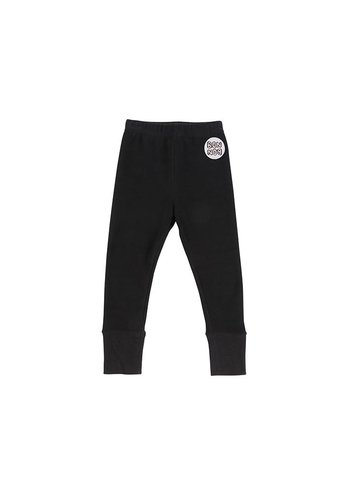 Basic Rib Leggings_Black_Kids_#3