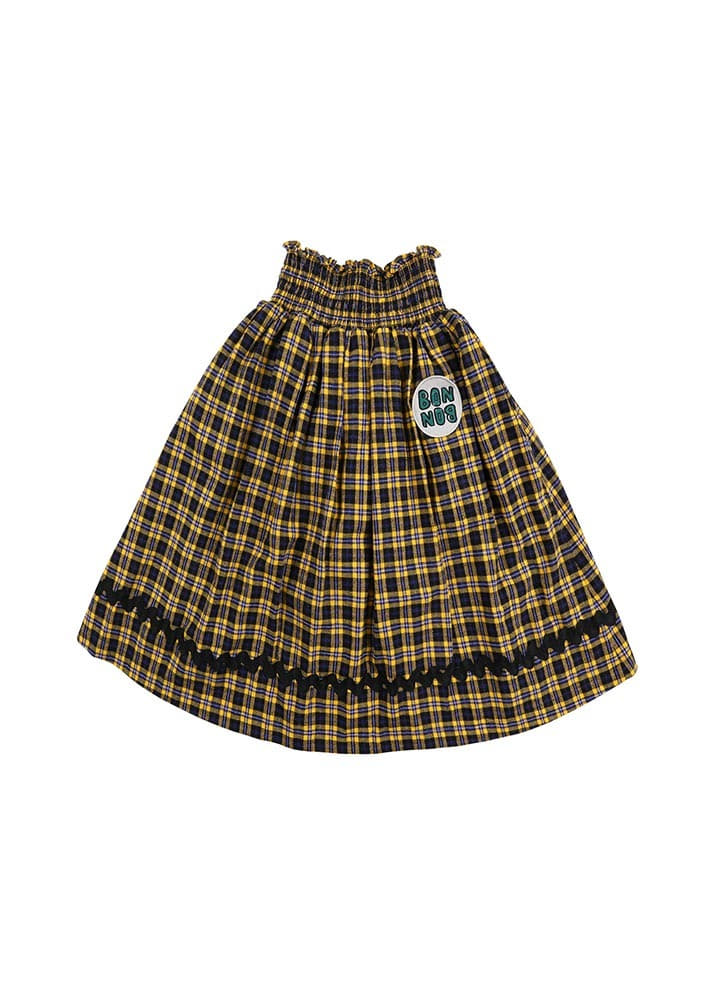 Check BONBON Skirt_Yellow_Kids