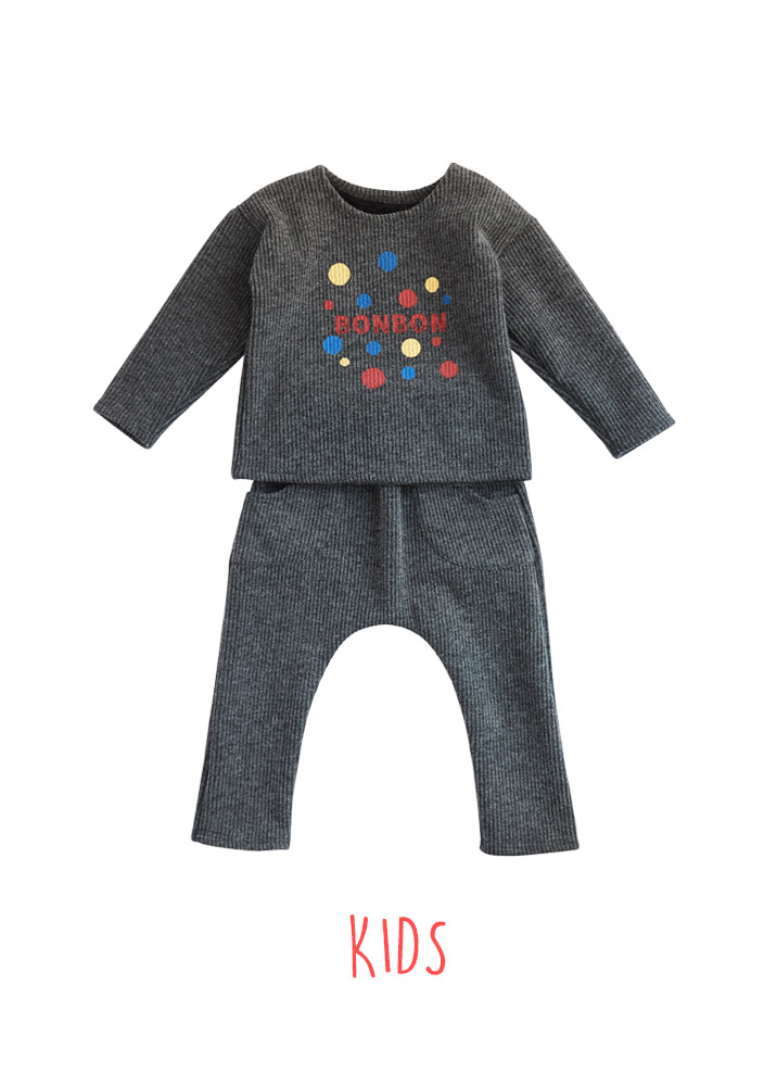 BONBON Set_Kids_Charcoal