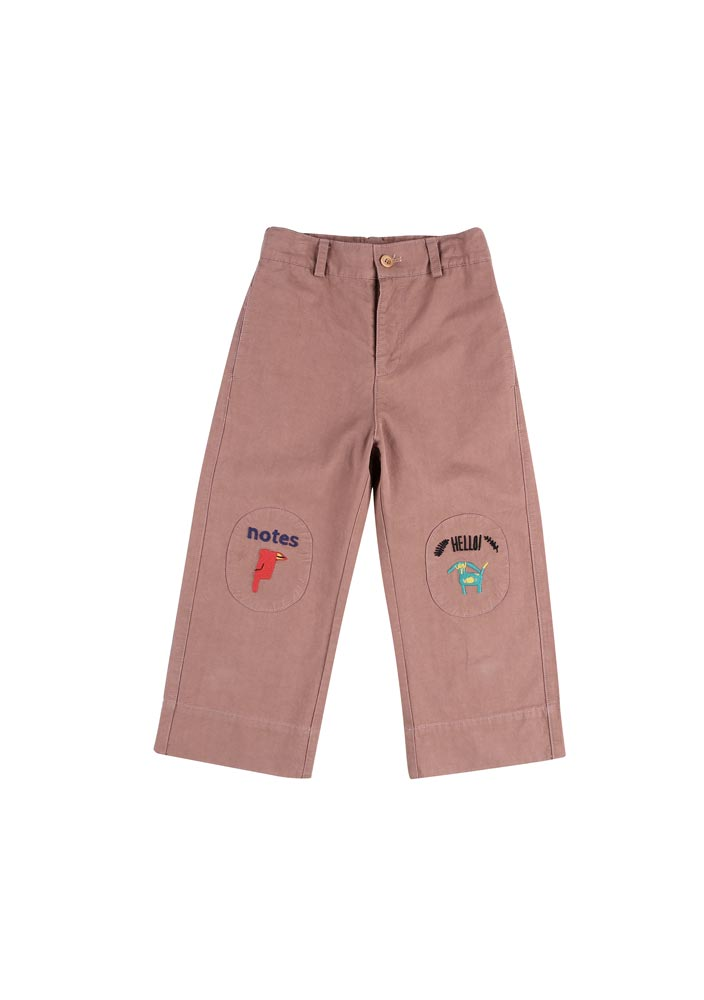 Notes Cotton Ankle Pants_Kids_Red Brown