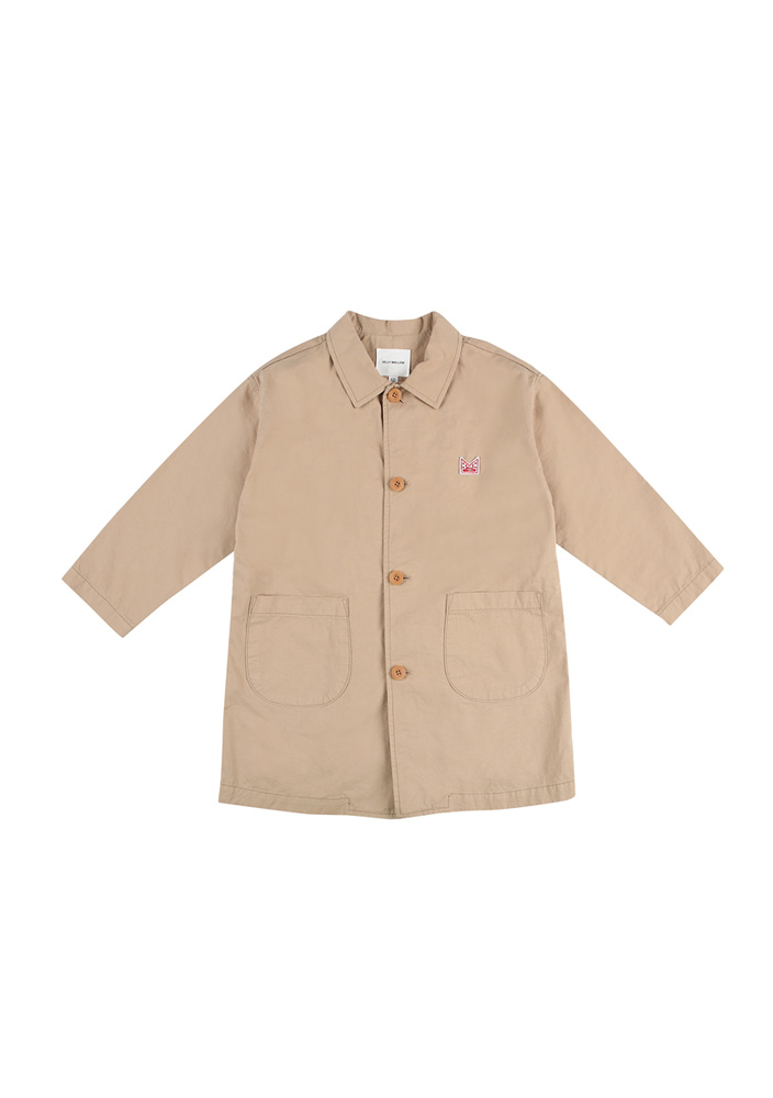 Single Spring Coat_Kids_Beige