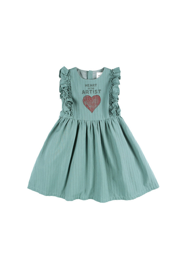 Artist Heart Dress_Baby_Green
