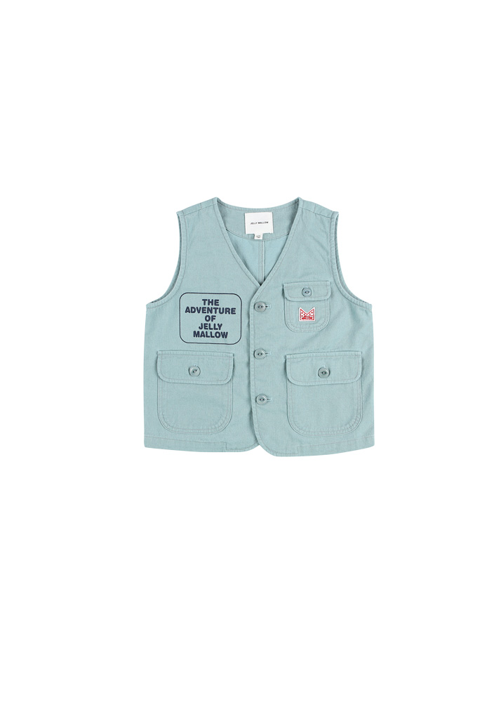 Adventure Safari Cotton Vest_Baby_Blue