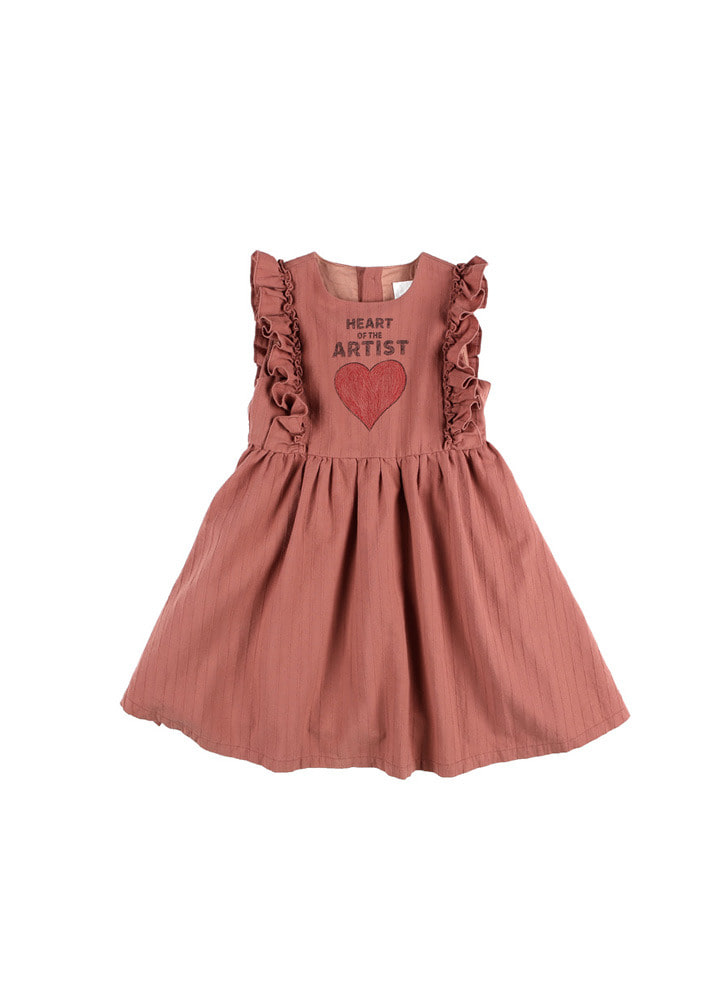 Artist Heart Dress_Kids_Brick