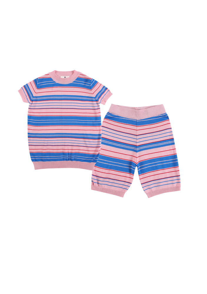 Stripe knit set_Kids