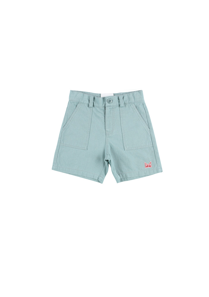 Adventure Safari Cotton Shorts_Kids_Blue