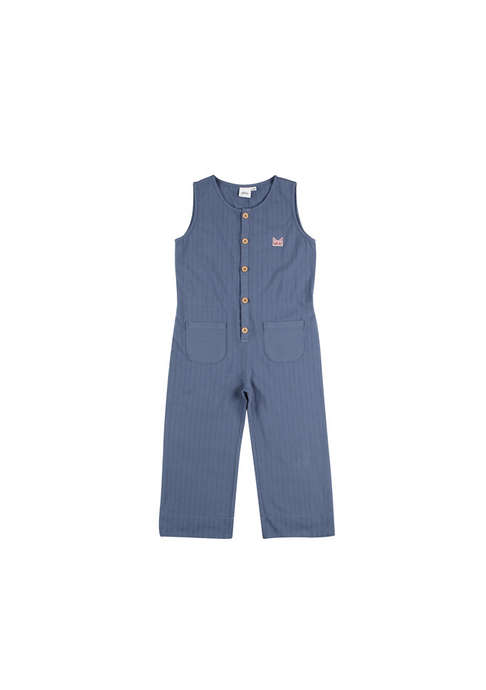 Sleeveless Jumpsuit_Kids_Blue