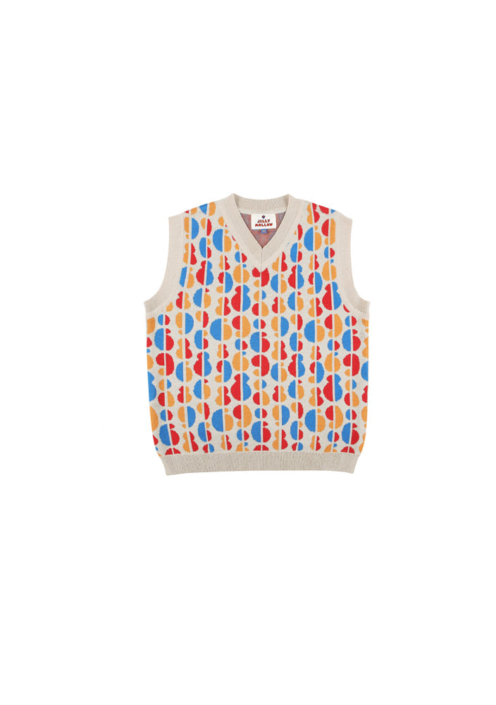 Rainbow knit vest_Kids