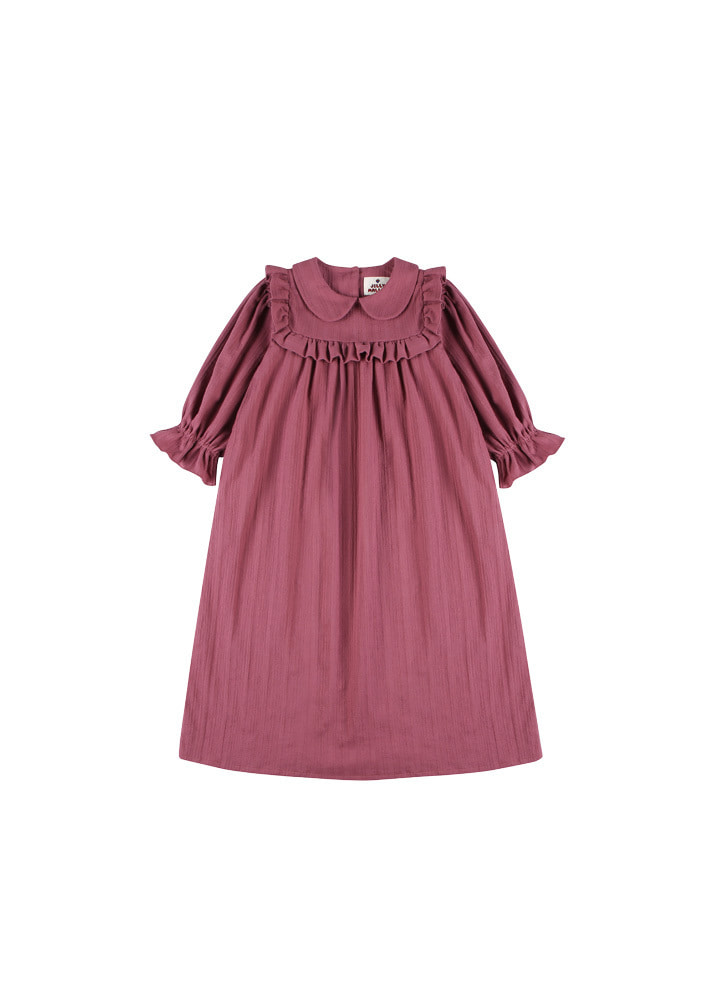 Grace frill dress_kids_purple