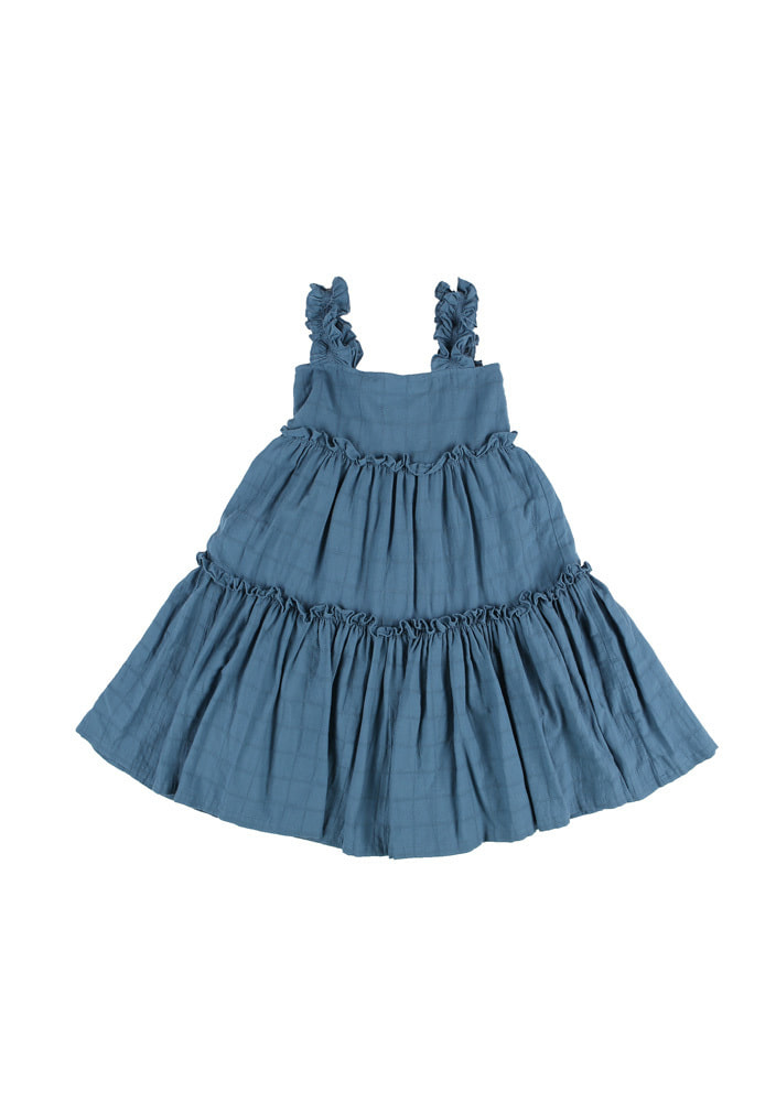 Gracia Frill Dress_Kids_Blue
