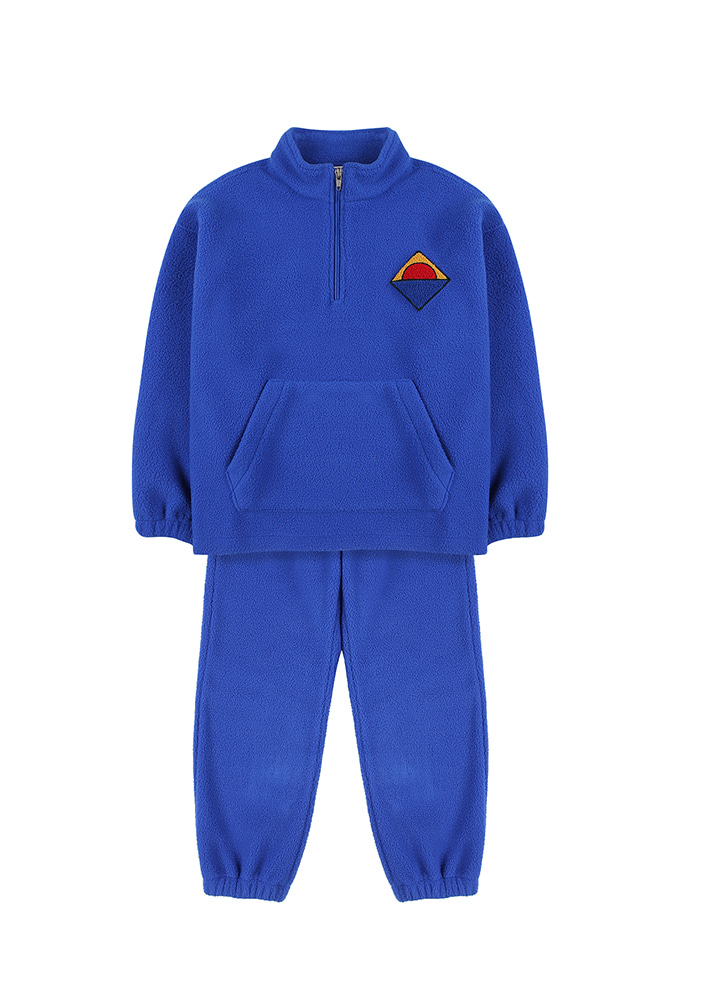 HALF-ZIP SWEATSHIRT & LOUNGE PANTS_Blue_Kids