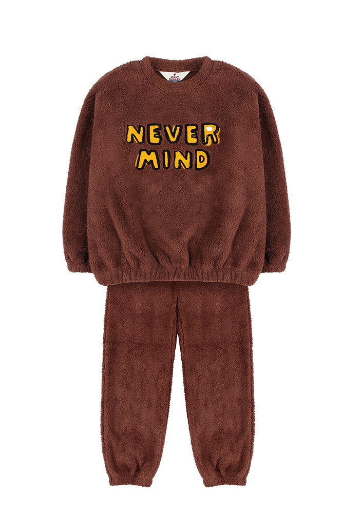 SHEARLING SWEATSHIRT & LOUNGE PANTS_Baby_Brown