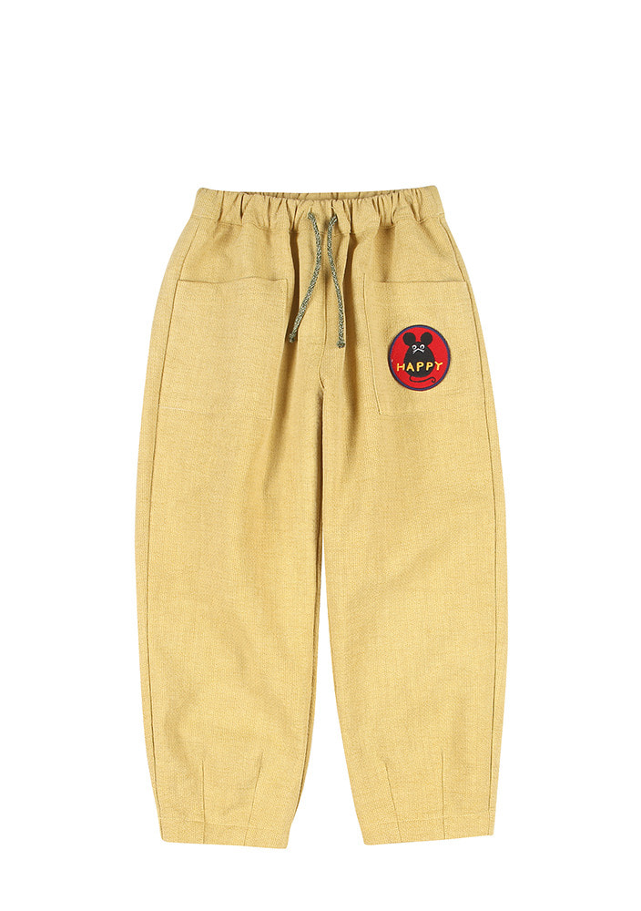 TAPERED COTTON PANTS_Yellow