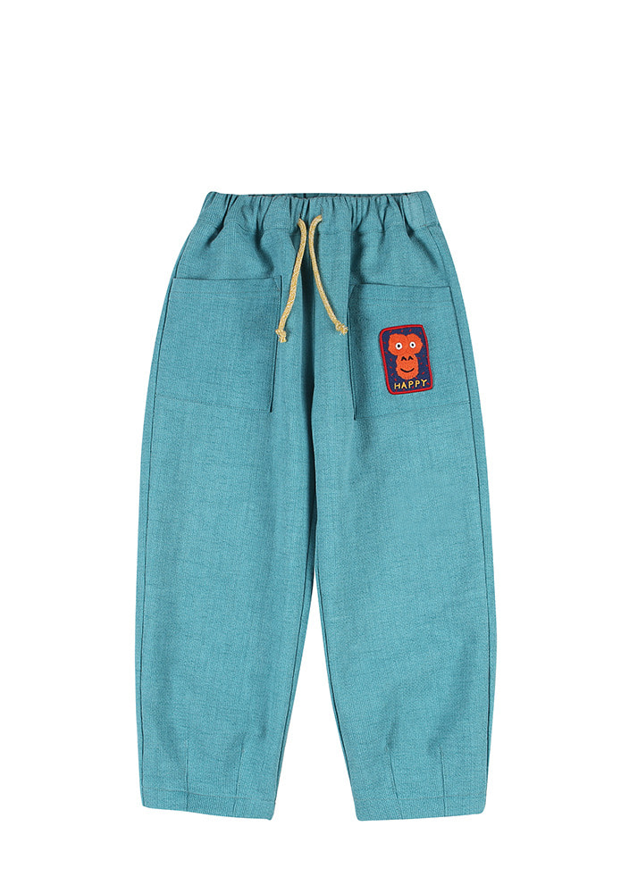 TAPERED COTTON PANTS_Blue