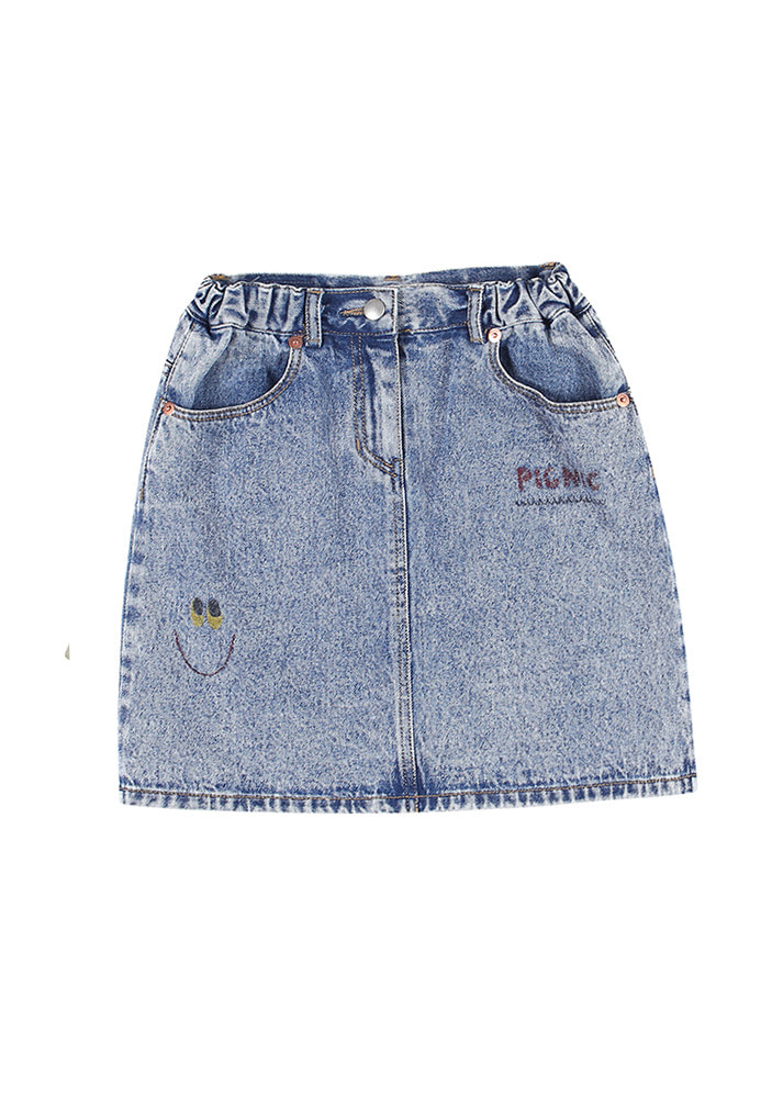 PAINTING DENIM SKIRT
