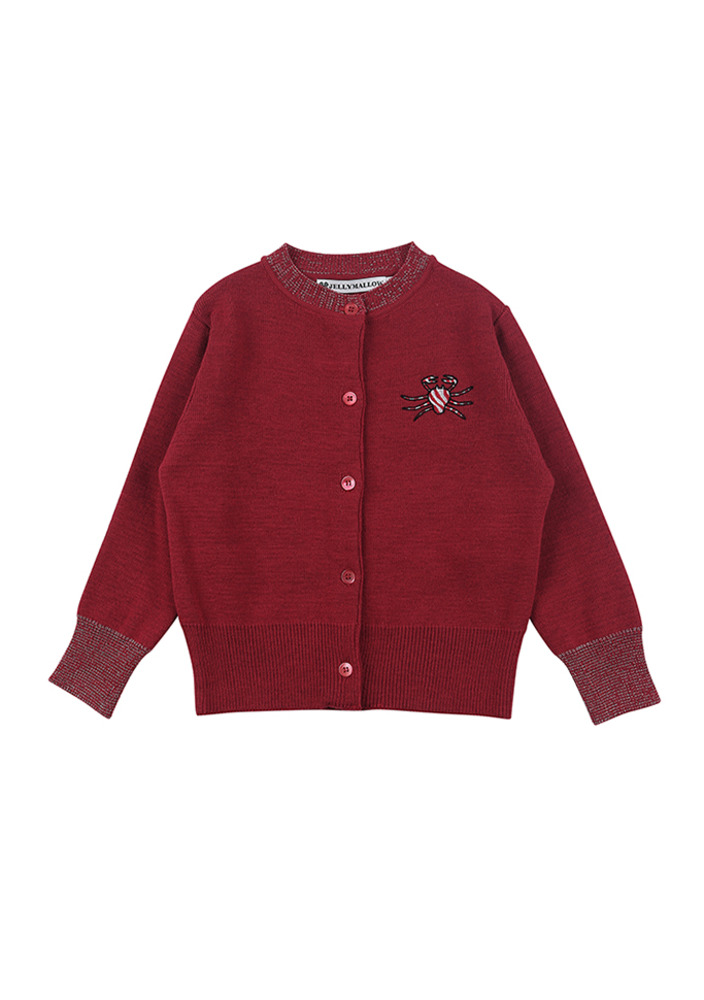 Sugar Crab Cardigan_red