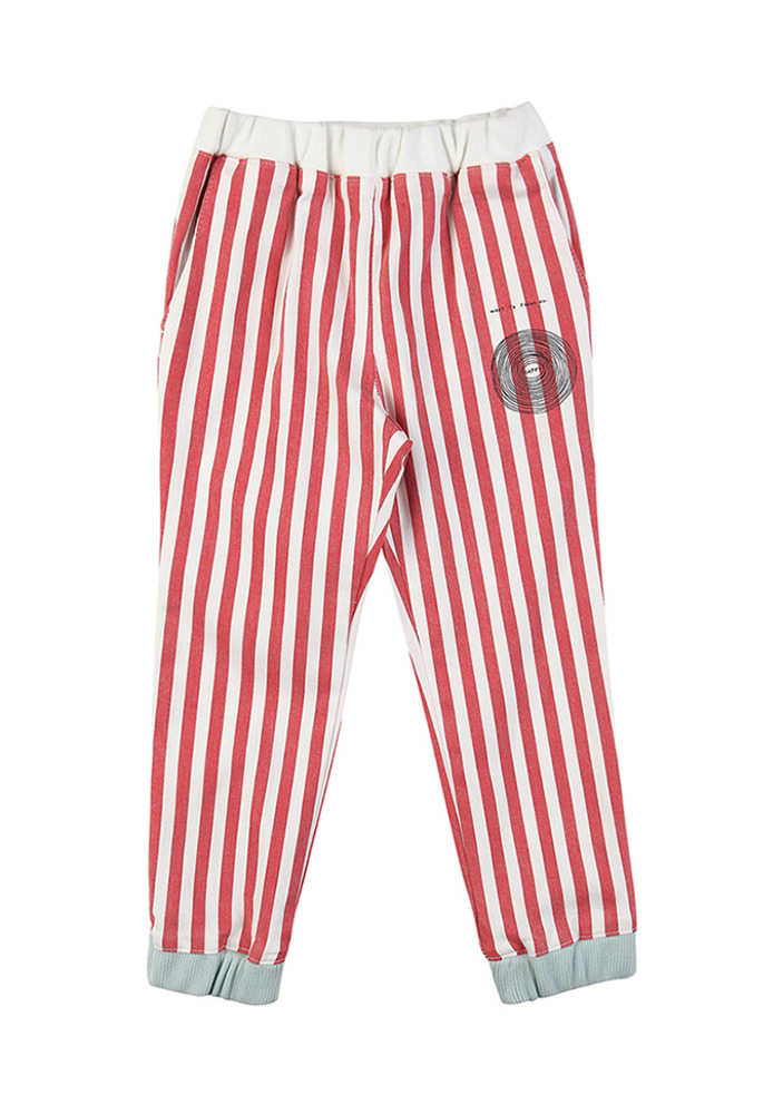 Striped Lounge Pants_Kids_Red