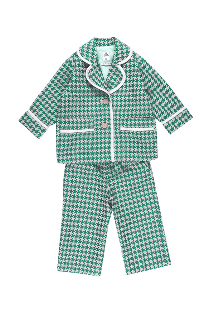 Hound tooth check Suit_Green_baby