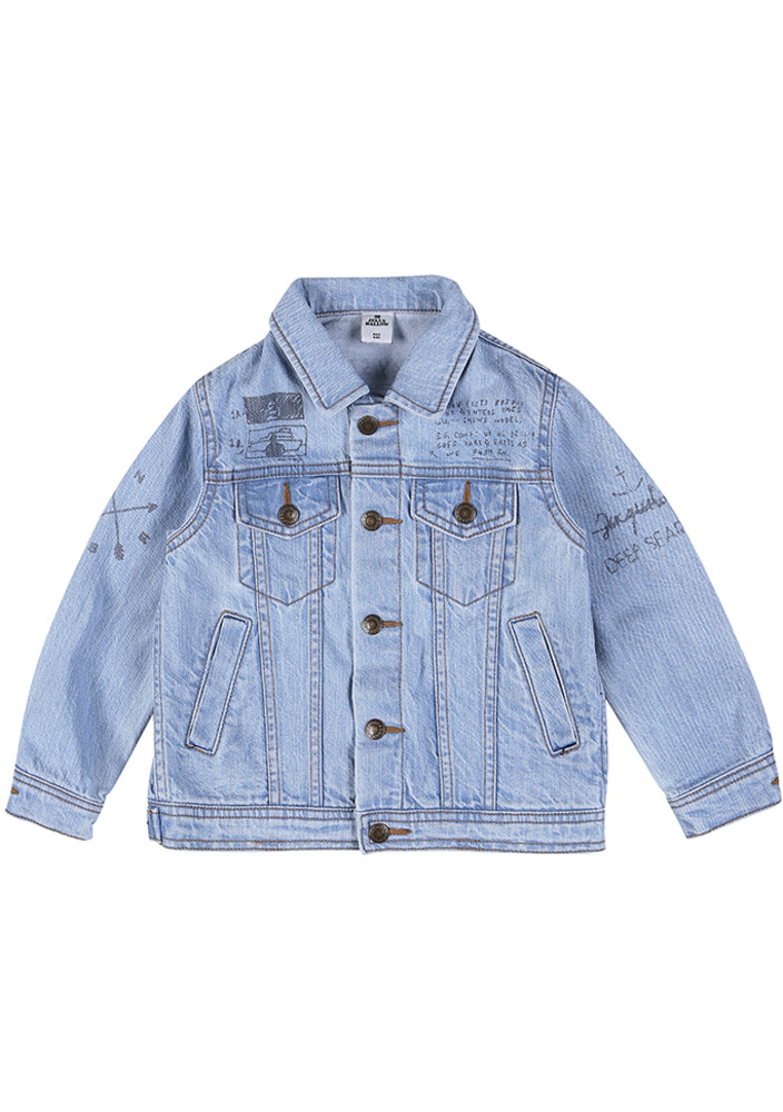 Painted Doodle Denim Jacket_baby
