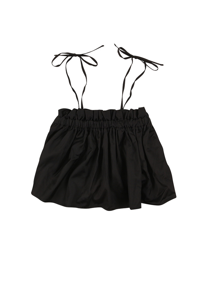 ★Ruffle Crop Top_black