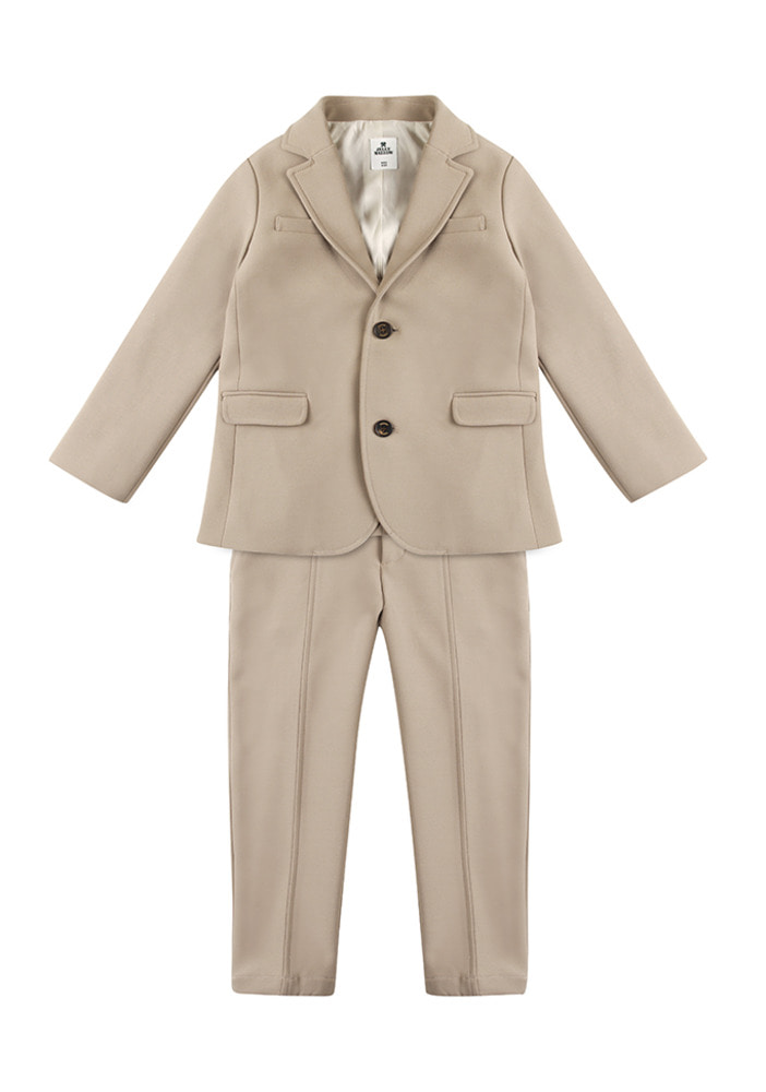 Single Brested Suit_Beige_Kids