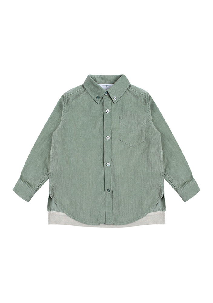 ★Corduroy_Shirt_Mint
