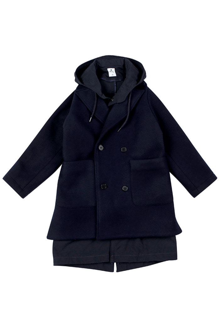 Navy Anorak Coat _ Kids