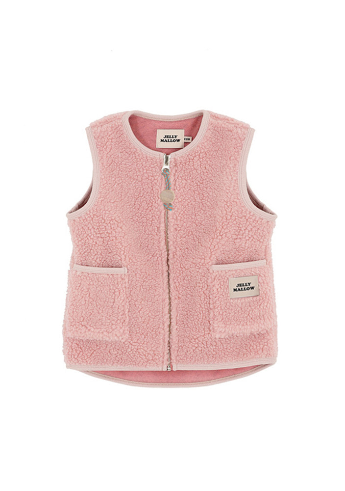 Fleece Vest_pink _ Kids