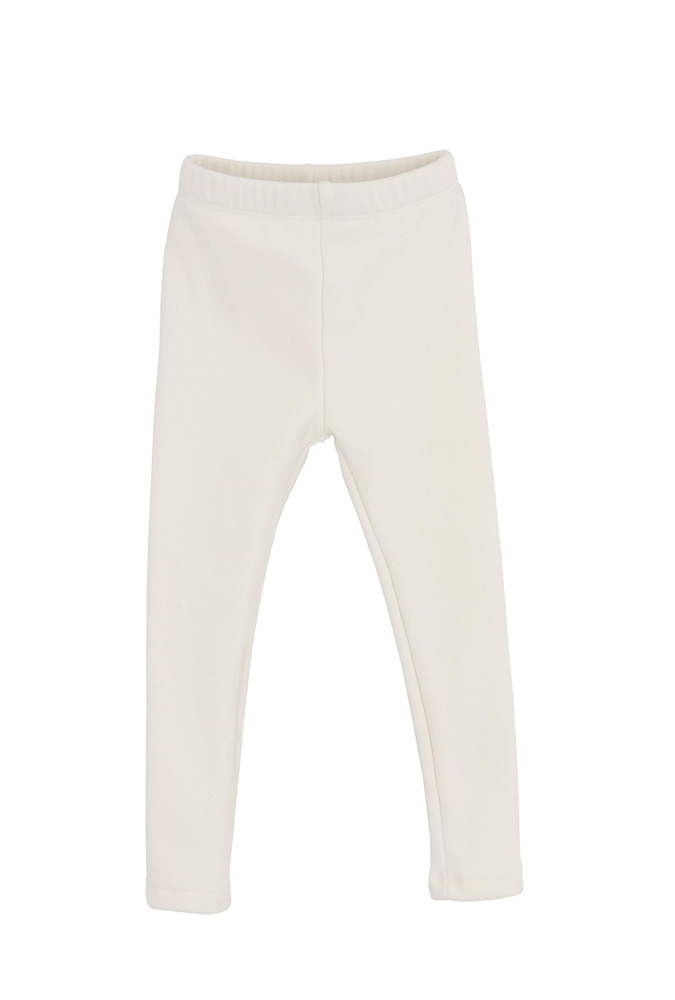 Fleece Leggings_ivory_Baby