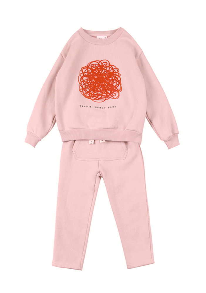 Fluff Sweat Set_Pink_Kids