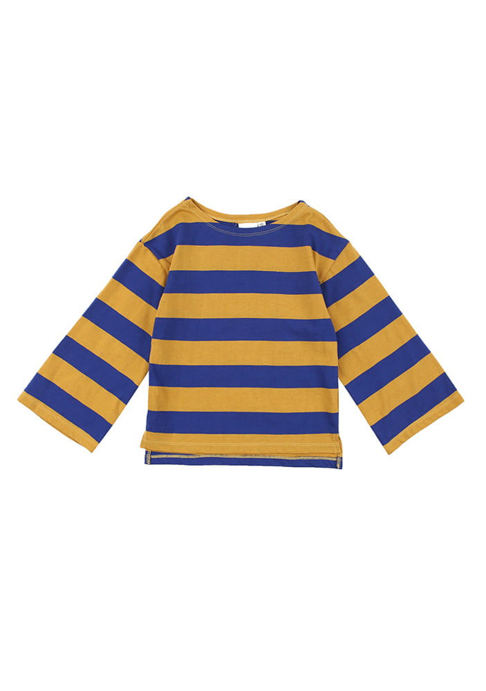 Stripe Overfit T-Shirt_Yellow_Baby