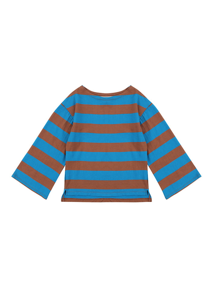 Stripe Overfit T-Shirt_Brown_Baby