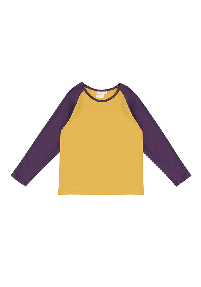 Raglan T Shirts_Purple_Kids