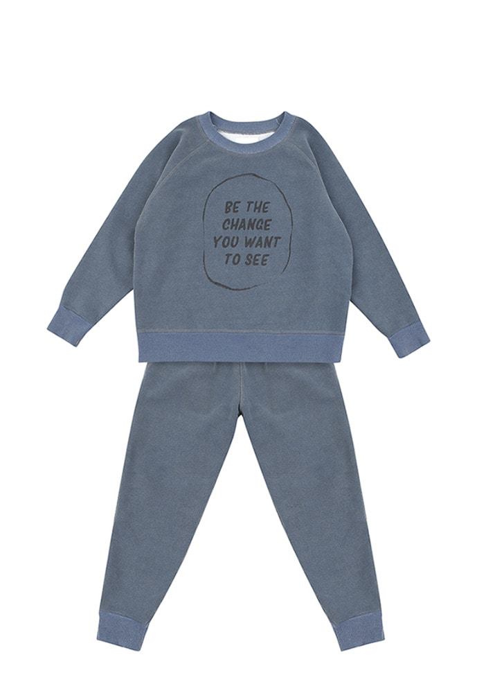 Change Sweat Set_Kids_Blue