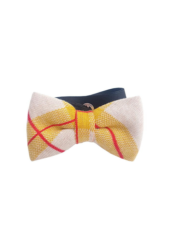 Red Check Bowtie_Yellow