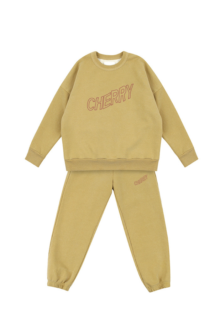 Cherry Sweat Set_Baby_Mustard