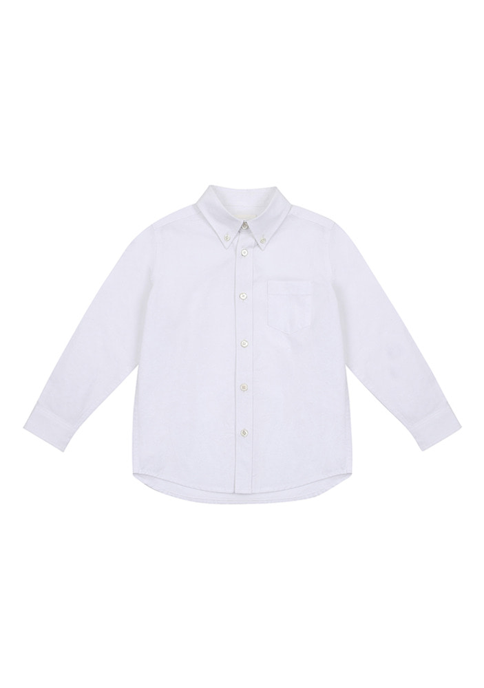 Button Down Shirt_White_Kids