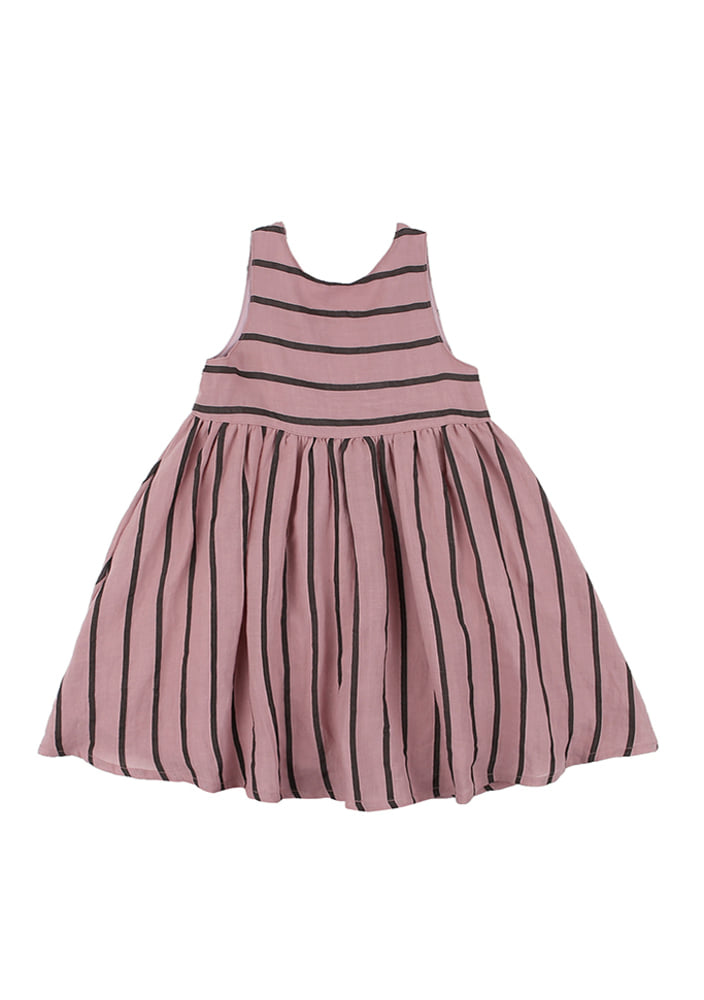 Stripe Open Dress_kids