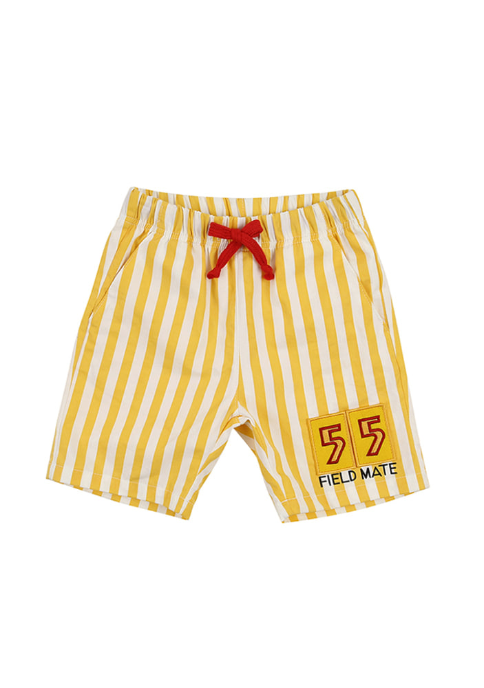 Stripe 55 Shorts_Yellow_Kids