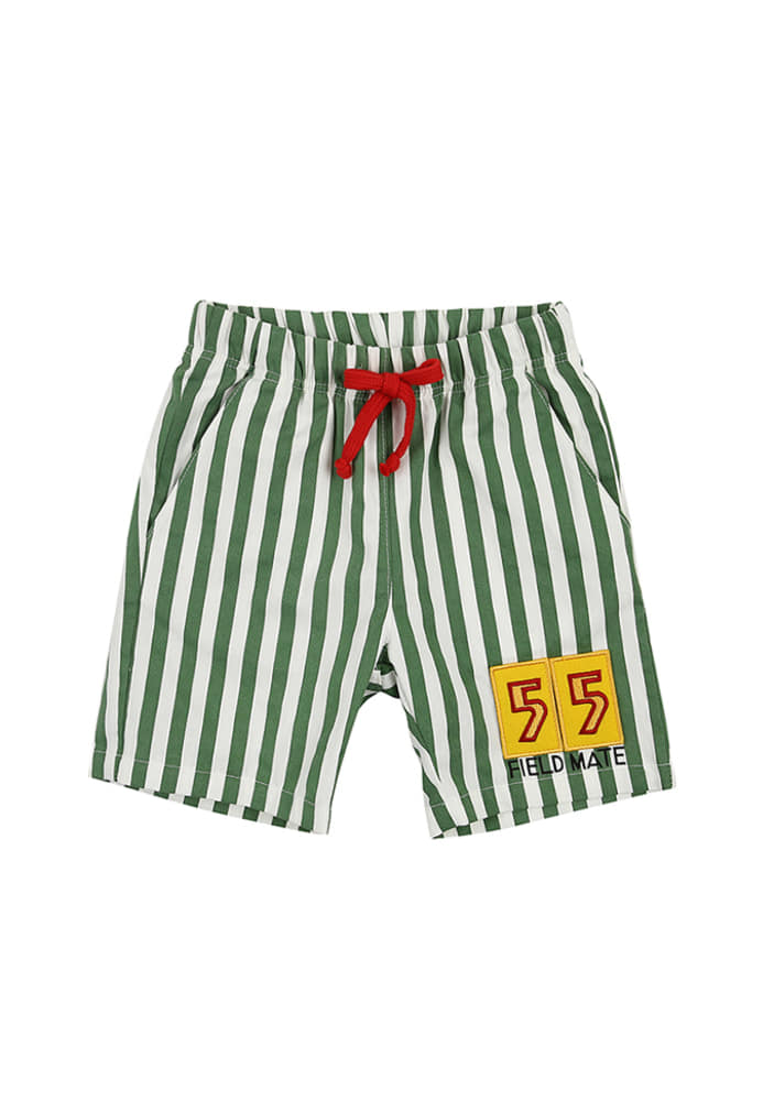 Stripe 55 Shorts_Green_Baby