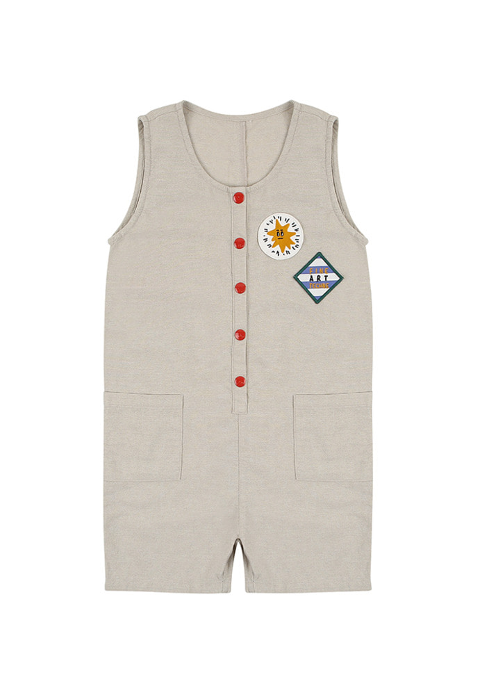 Fine Art Jumpsuit_Beige_Kids
