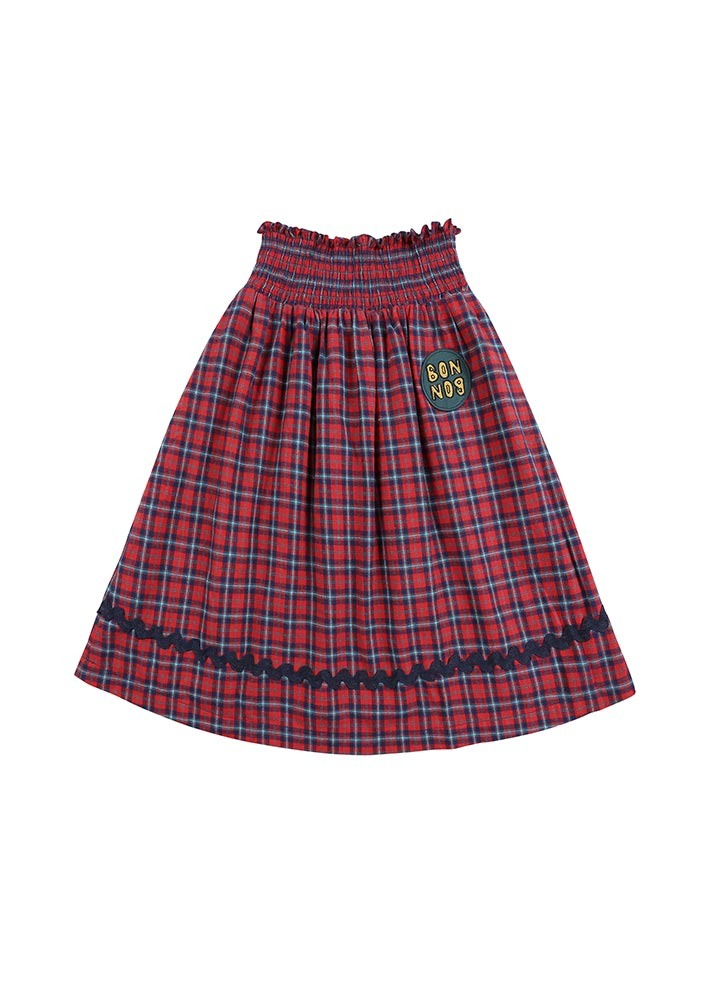 Check BONBON Skirt_Red_Kids